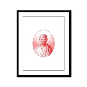 Aristotle in Red Framed Panel Print
