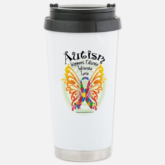 Autism Butterfly 3 Stainless Steel Travel Mug