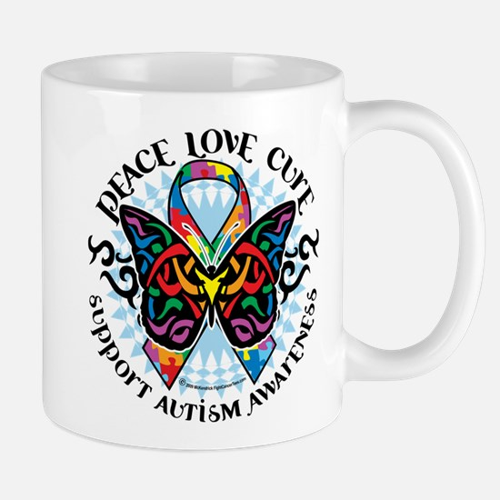 Autism Tribal Butterfly 2 Mug