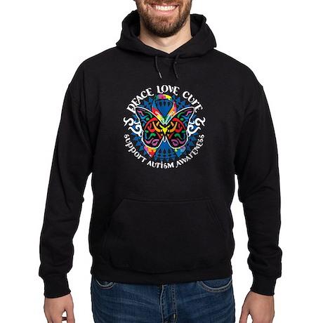 Autism Tribal Butterfly 2 Hoodie (dark)