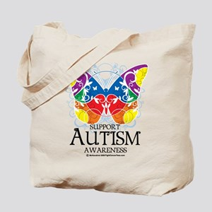Autism Butterfly Tote Bag
