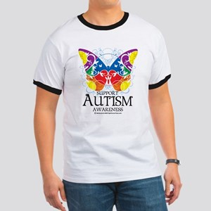 Autism Butterfly Ringer T