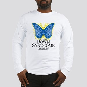 Down Syndrome Butterfly Long Sleeve T-Shirt