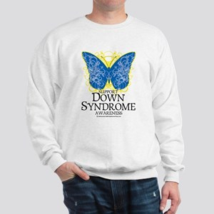 Down Syndrome Butterfly Sweatshirt