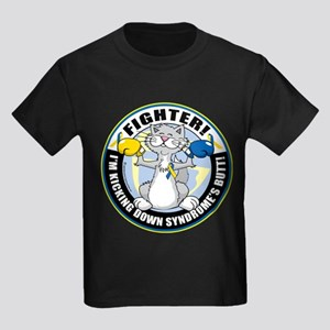 Down Syndrome Fighter Kids Dark T-Shirt