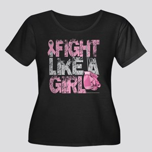 I Fight Like A Girl 2 Women's Plus Size Scoop Neck
