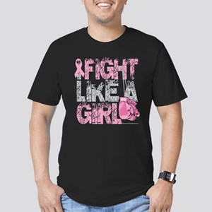 I Fight Like A Girl 2 Men's Fitted T-Shirt (dark)