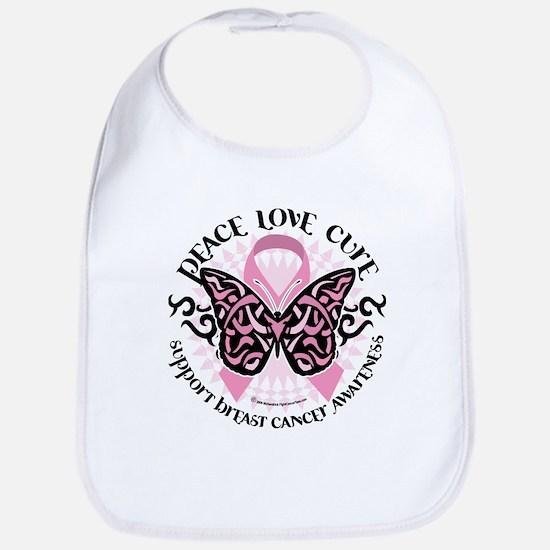 Breast Cancer Butterfly Triba Bib