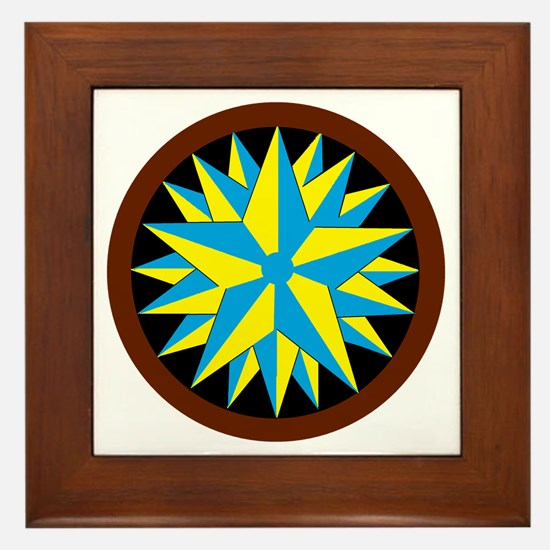 Penn-Dutch - Triple Star Hex Framed Tile