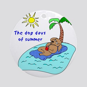 Dog Days of Summer Ornament (Round)