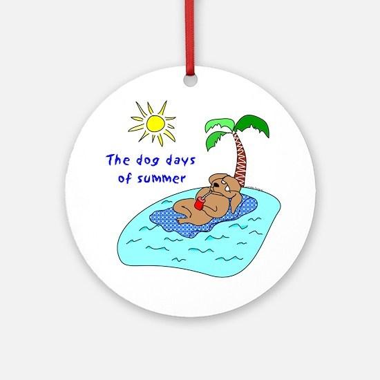 Dog Days of Summer Ornament (Round)