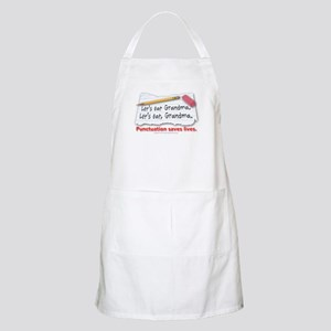 Punctuation Saves Lives Apron