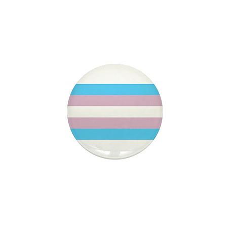Trans Flag Mini Button