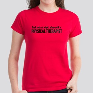 Feel safe with a Physical Therapist Women's Dark T