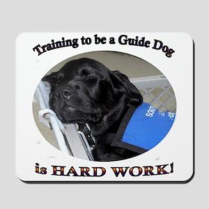 Training is Hard Work Mousepad