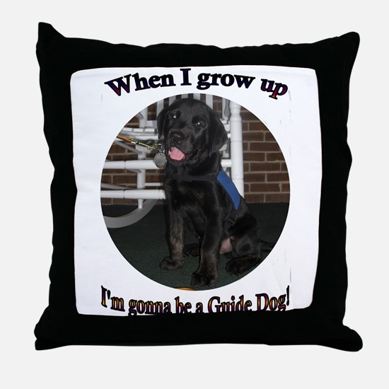 Gonna Be a Guide Dog Throw Pillow
