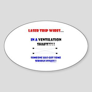 Laser Trip Wires?? 02 Sticker (Oval)