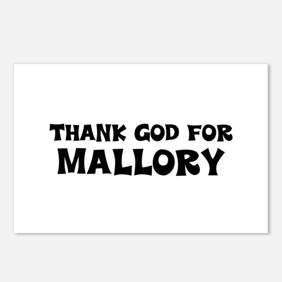 Thank God For Mallory Postcards (Package of 8)