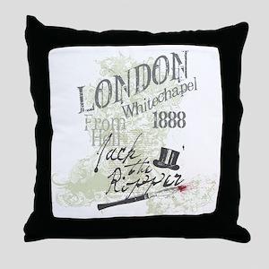 Jack the Ripper London 1888 Throw Pillow