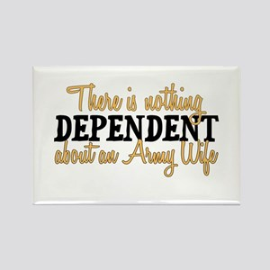 Army Wife - Dependent Rectangle Magnet