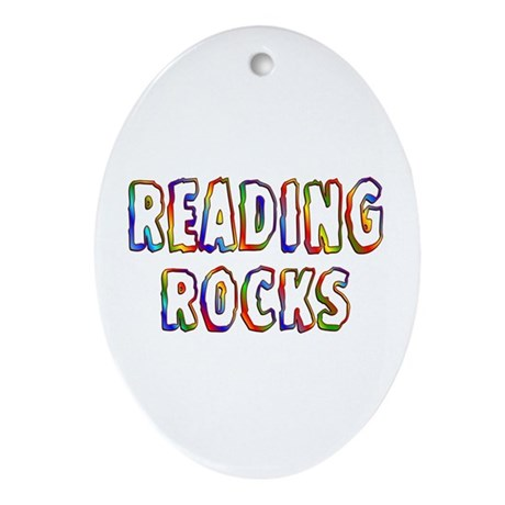 Reading Ornament (Oval)