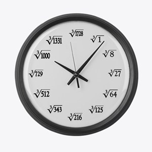 Cubed Rooot Large Wall Clock