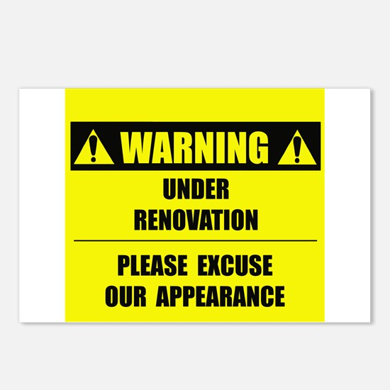 WARNING: Under Renovation Postcards (Package of 8)