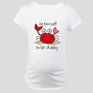 Too Cute Crab Maternity T-Shirt