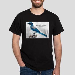 Western Scrub Jay Dark T-Shirt