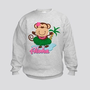 Aloha Monkey Kids Sweatshirt