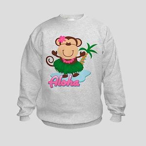 Aloha Monkey Kids Sweatshirt