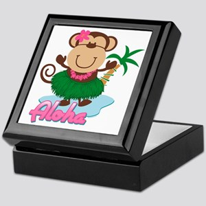 Aloha Monkey Keepsake Box