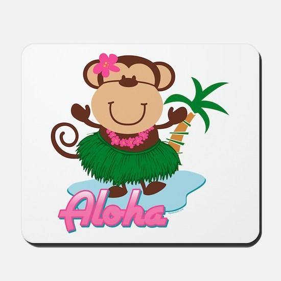 Aloha Monkey Mousepad
