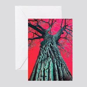 Red Sky Tree Greeting Cards (Pk of 10)