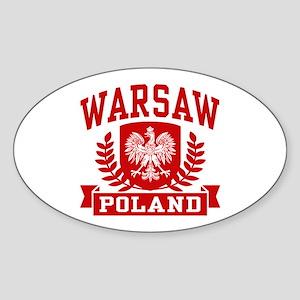 Warsaw Poland Sticker (Oval)