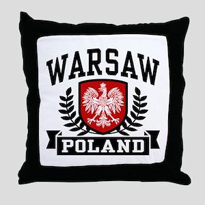 Warsaw Poland Throw Pillow