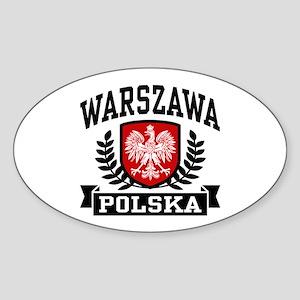 Warszawa Polska Sticker (Oval)