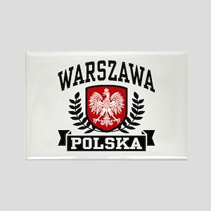 Warszawa Polska Rectangle Magnet