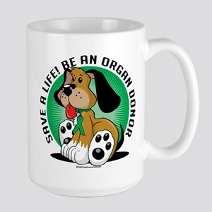 Organ Donor Dog Large Mug