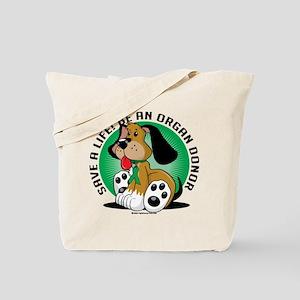 Organ Donor Dog Tote Bag