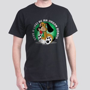 Organ Donor Dog Dark T-Shirt