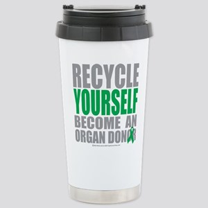 Organ Donor Recycle Yourself Stainless Steel Trave