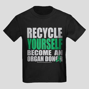 Organ Donor Recycle Yourself Kids Dark T-Shirt