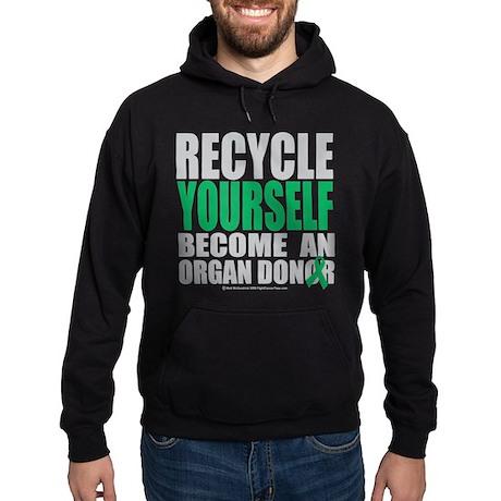 Organ Donor Recycle Yourself Hoodie (dark)