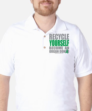 Organ Donor Recycle Yourself Golf Shirt
