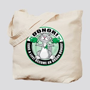 Organ Donor Fighter Cat Tote Bag