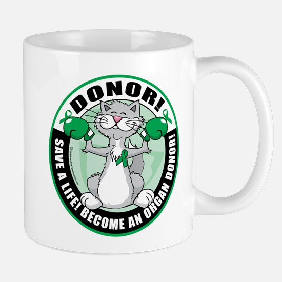 Organ Donor Fighter Cat Mug