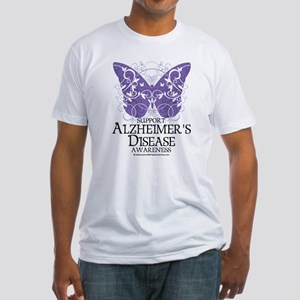Alzhimers Butterfly 4 Fitted T-Shirt