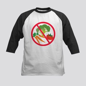 No Veggies! Kids Baseball Jersey