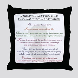 Steps for a Jane Austen Knock Throw Pillow
